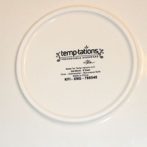 Temptations Kitchen - Temptations Fall Thanksgiving Pie Plate with Rack